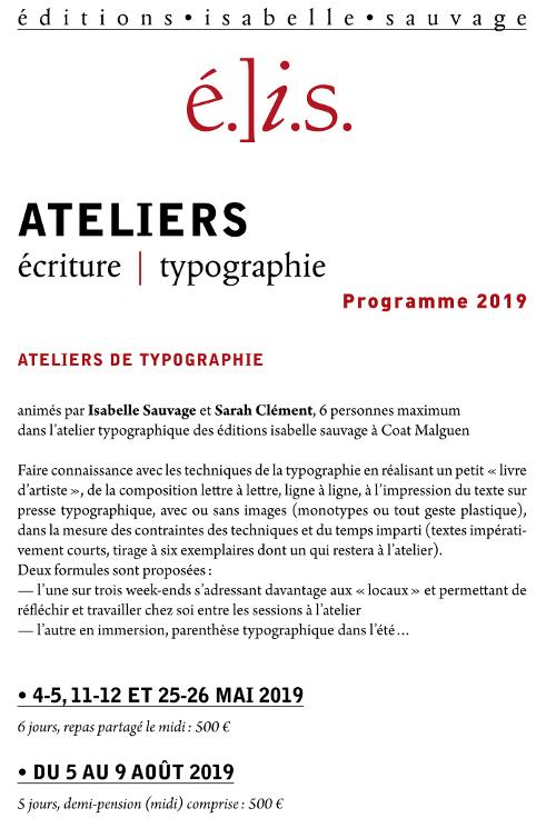 Depliant Ateliers 2019–1